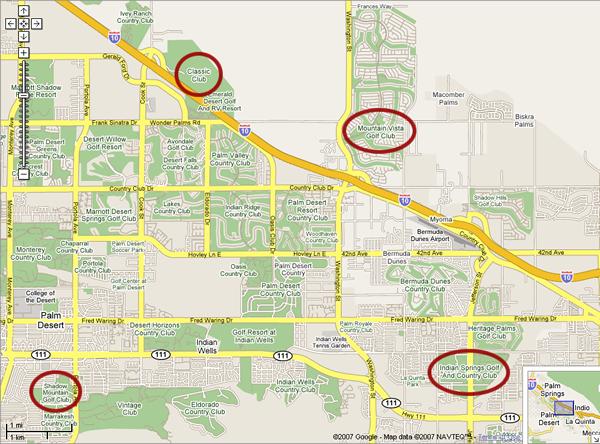 AEA Golf Club Palm Springs 2007 Maps